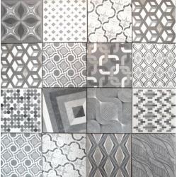 Carrelage imitation ciment style ancien 22.5x22.5 cm MARRAKECH MIX Natucer