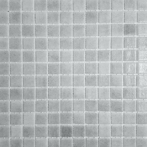 Mosaique piscine émaux de verre GRIS FOG 31.6x31.6 cm - 2 m² - zoom