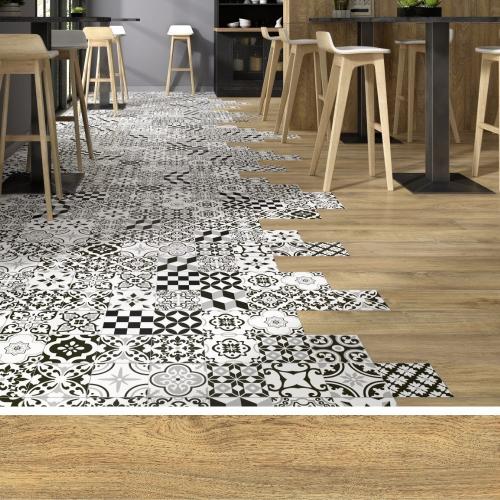 Carrelage style parquet BERGEN BEIGE 15x90 cm - 1.08 m² Oset