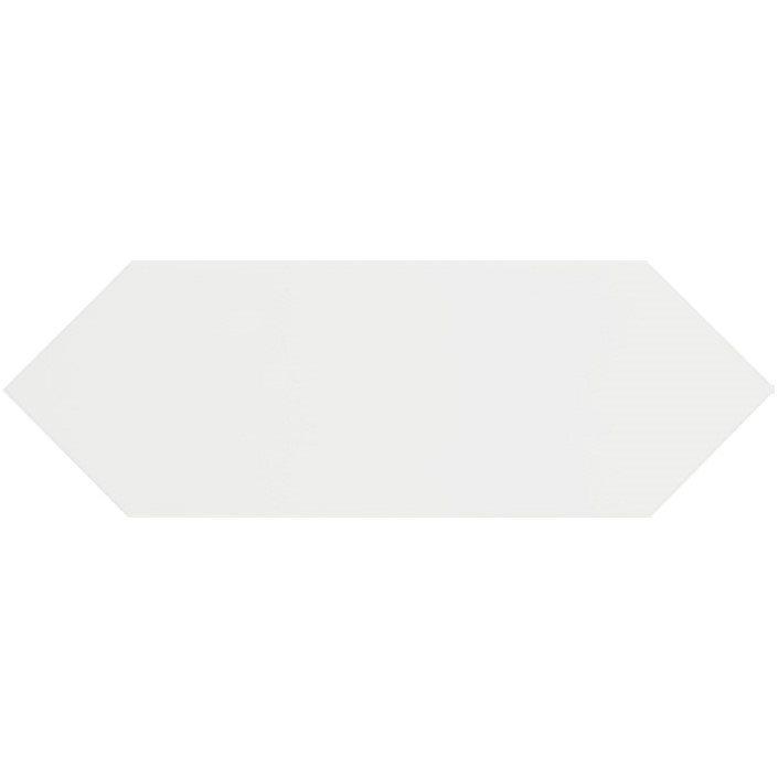 Faience navette crayon blanc brillant 10x30 PICKET WHITE - 1m² - zoom