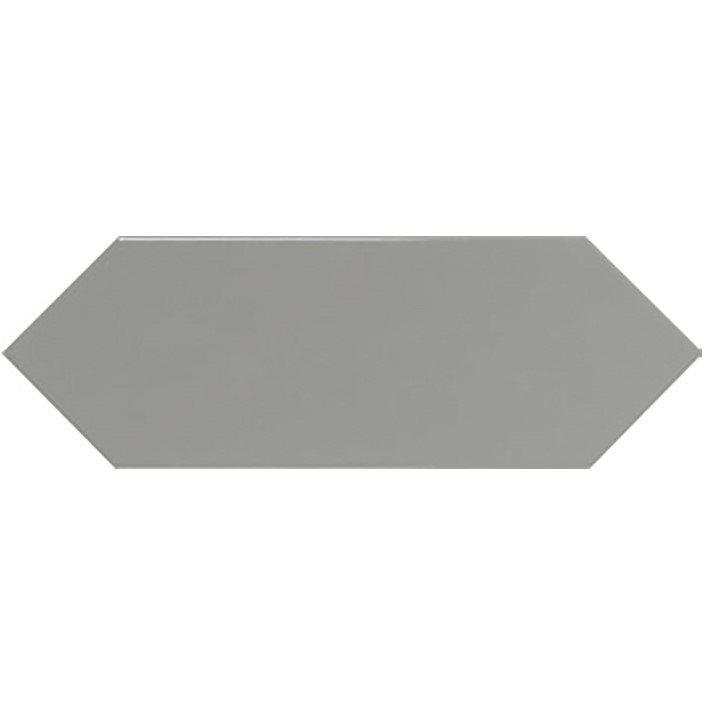 Faience navette crayon gris brillant 10x30 PICKET GREY - 1m² - zoom