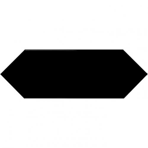 Faience navette crayon noir brillant 10x30 PICKET BLACK - 1m² Ribesalbes