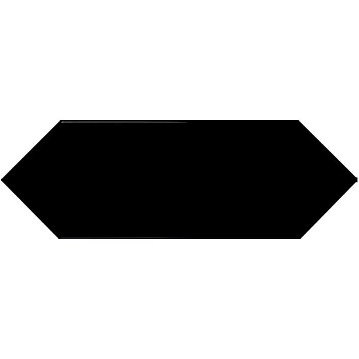 Faience navette crayon noir brillant 10x30 PICKET BLACK - 1m² - zoom