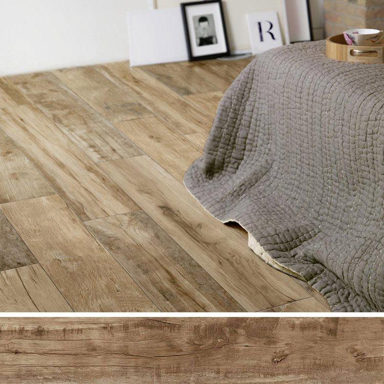 Carreau imitation bois 20x120 cm WOODMANIA Caramel R10 - 0.96 m² - zoom