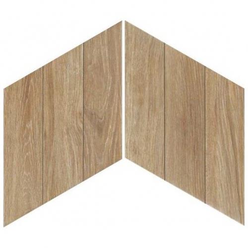 Carrelage losange style bois 70x40 DIAMOND TIMBER WALNUT CHEVRON - 0.98m² Realonda