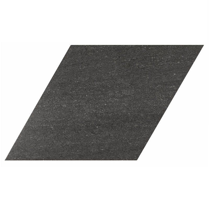 Carrelage losange géant noir 70x40 DIAMOND CITY BLACK - 0.98m² - zoom