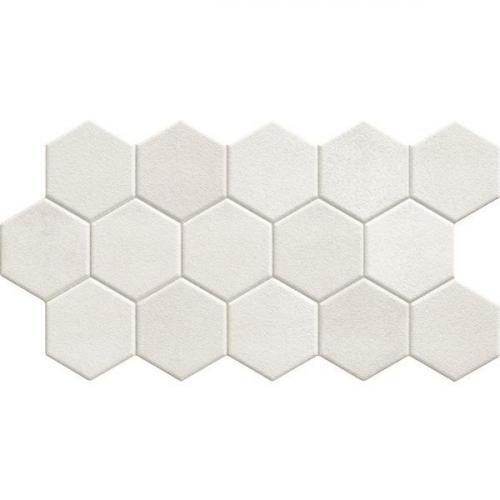 Carrelage tomette blanche mate 26.5x51 cm HEX WHITE - 0.95m² Realonda
