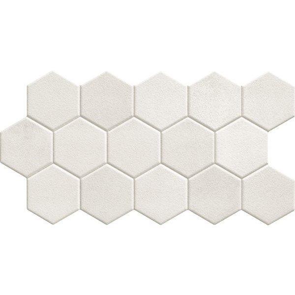 Carrelage tomette blanche mate 26.5x51 cm HEX WHITE - 0.95m² - zoom