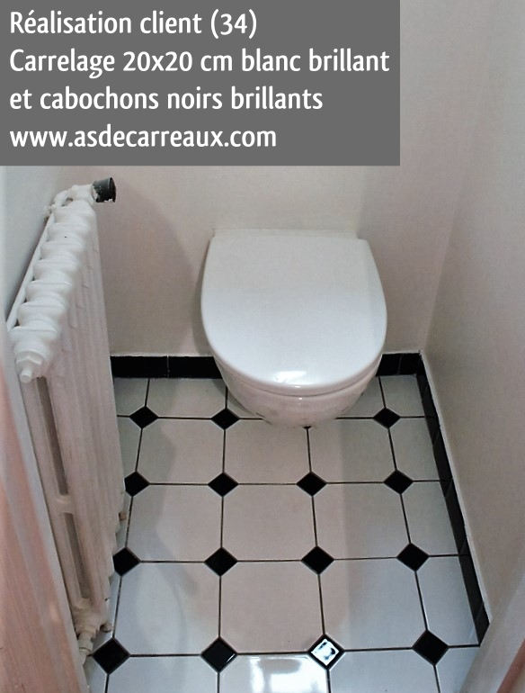Inspiration des r alisations sol ambiances de nos clients for Plinthe carrelage noir brillant 10 x 20