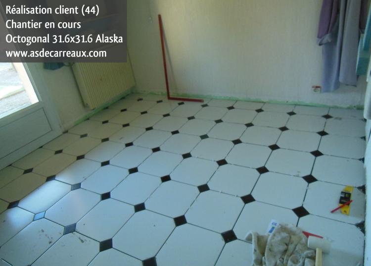 carrelage octogonal blanc et noir. Black Bedroom Furniture Sets. Home Design Ideas