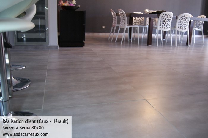 Inspiration des r alisations sol ambiances de nos clients for Carrelage 80x80 gris anthracite