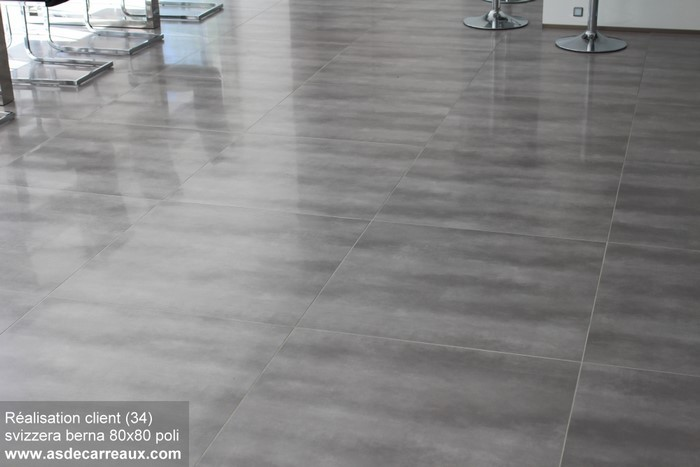 Inspiration des r alisations sol ambiances de nos clients for Carrelage poli brillant gris