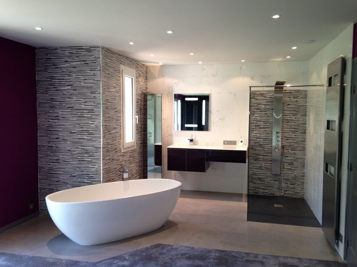 Inspiration des r alisations ambiances de nos clients for Salle de bain parement