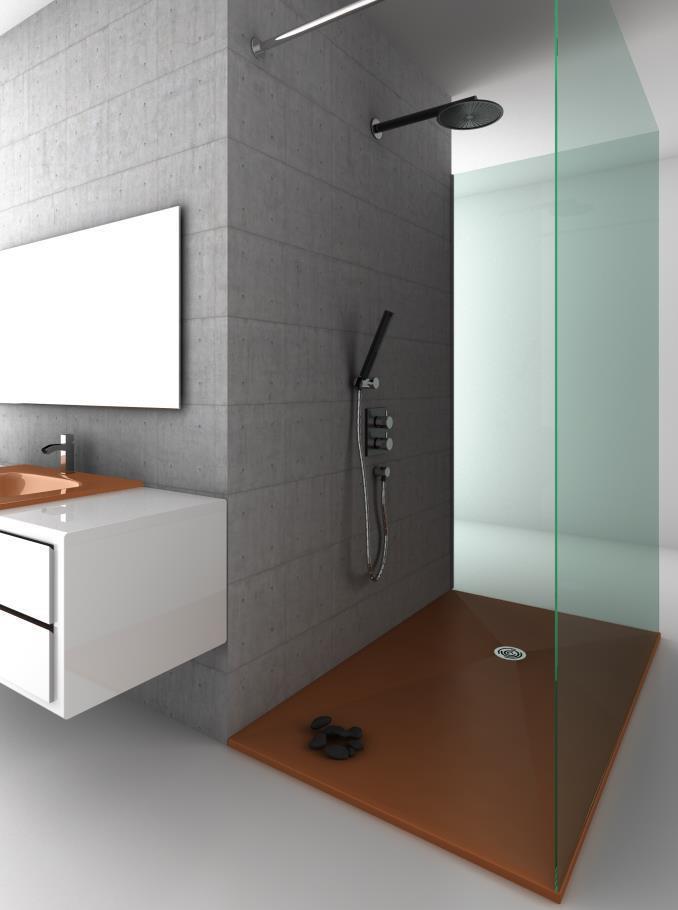 d couvrez les ambiances des receveurs de douche ultra plat pour des salles de bain design. Black Bedroom Furniture Sets. Home Design Ideas