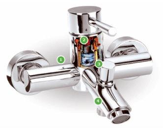 robinet mitigeur lavabo design vivaldi robinetterie as de carreaux. Black Bedroom Furniture Sets. Home Design Ideas
