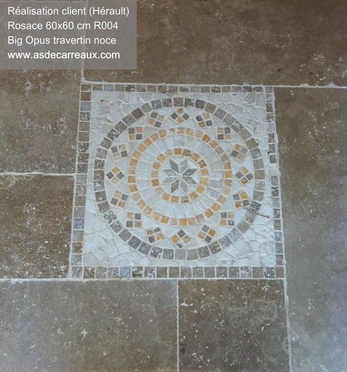 Inspiration des r alisations sol en ext rieur ambiances for Rosace carrelage exterieur